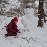 снежная баба Тамара :: Ирина Гракова