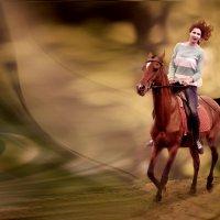 Девушка на лошади :: Елена Ушакова