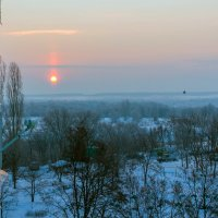 При восходе солнца, зимним утром.. :: Юрий Стародубцев
