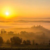 """ТУМАННОЕ УТРО В ТОСКАНЕ. Из серии """"Toscana - amore mio"""" :: Ашот ASHOT Григорян GRIGORYAN"""