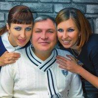 отец с дочерьми :: Милана Михайловна Саиткулова