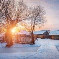 Предрождественская деревня... :: Александр Кукринов