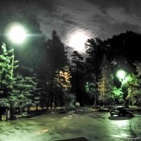 Луна и фонари :: Валерий Смирнов