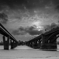 Новосибирск... Обь... Февраль... Метромост... :: Pavel Kravchenko