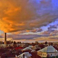 Плывут по небу облака. На закате. :: Валентина ツ ღ✿ღ
