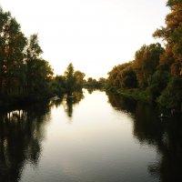 Закат на реке Деме :: Сергей Тагиров