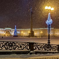 Метель на Дворцовой. Петербург. :: Наталья Иванова