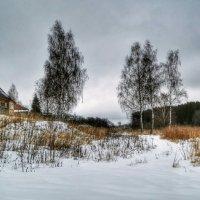 Пейзаж с домиком :: Милешкин Владимир Алексеевич