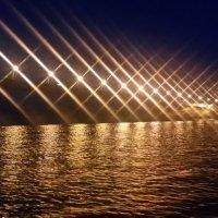 Ночь. Мост через водохранилище. :: Сергей Тагиров