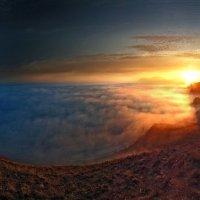 Весенний туман на закате :: viton