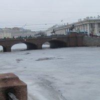Фонтанка. Аничков мост. Март :: Маера Урусова