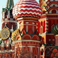 Фрагменты Спасской башни и Собора Василия Блаженного :: Владимир Болдырев