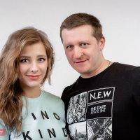 Актриса Лиза Арзамасова и фотограф Андрей Журавлев :: Фотограф Андрей Журавлев