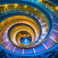 """Лестница Момо в Ватикане (вид сверху). Из серии """"VATICAN"""" :: Ашот ASHOT Григорян GRIGORYAN"""
