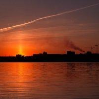 Закат на Иртыше, зелёный остров, Омск :: Алина Репко
