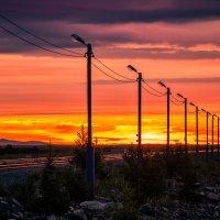 Пылающий закат :: Константин Ольховка