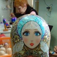 Матрешка образец из художественной мастерской. :: Светлана Калмыкова