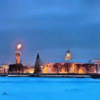 СПб.Вид с Невы(панорама) :: Владимир Беляев ( GusLjar )
