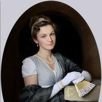 Овальный портрет девушки с веером :: Виктория Иванова