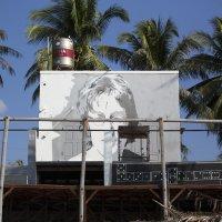 Вьетнам, Муйне, рисунок на стене... :: Юрий Петряев