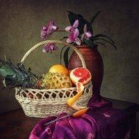 Натюрморт с орхидеей и фруктами :: Ирина Приходько