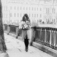 Девушка с тюльпанами. :: Ирэна Мазакина