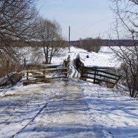 Мостик через реку Шерна. :: Ирина Нафаня