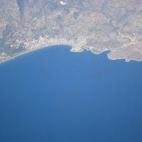 под крылом самолета Средиземное море :: Евгения Куприянова