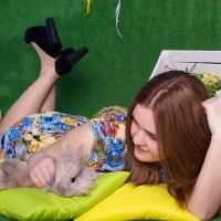 знакомство с кроликом :: Кристина Kottia