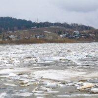 Таежная речка сплавила лед в Томь :: Нина северянка