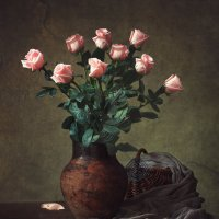 Натюрморт с розовыми розами :: Ирина Приходько