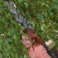 Портрет девушки в листьях березы :: Сергей Тагиров