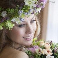 девушка в венке, невеста бохо, :: Вера Федотова