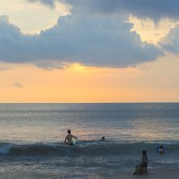 купание на закате1 :: Александр