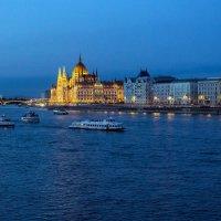 Вечерние прогулки по Дунаю(1). Вид на восточный берег Пешт. :: Надежда