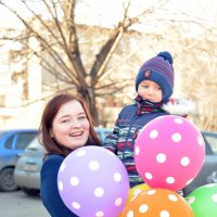 Двое с шариками-2 :: Полина Потапова