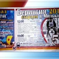 Объявление о гонке в Мильковской газете :: Konstantin © krogz.ru