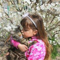 Девочка и кошка :: оксана косатенко
