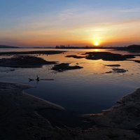 Весенний закат на Ангаре... :: Александр Попов