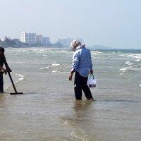 Ловля ракушек при отливе моря :: Наталья Тимофеева