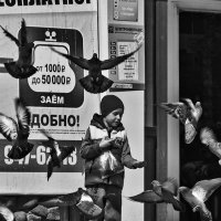 Мальчик кормит голубей :: Вадим Sidorov-Kassil