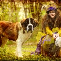 Дама с собачкой :: александр микулин