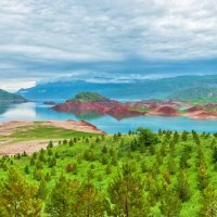 Таджикистан. Нурекское водохранилище. Панорама :: Ирина Токарева
