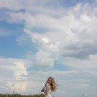 Небо...степь...девушка :: Оксана К