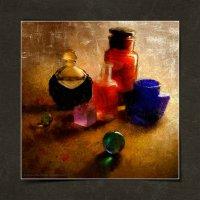 Натюрморт с шариками и парфюмерией :: Станислав Лебединский