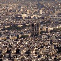 Нотр-Дам де Пари с высоты Ейфелевой башни :: Lukum
