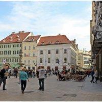 Братислава (столица Словакии): Главная площадь, Фонтан Роланда... :: Dana Spissiak
