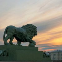 Акварельный закат на Неве.. :: Марина Павлова