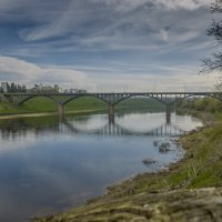 Старица. Мост через Волгу. :: Михаил (Skipper A.M.)