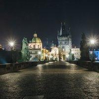 На Карлов мосту ночью :: Алексей Морозов